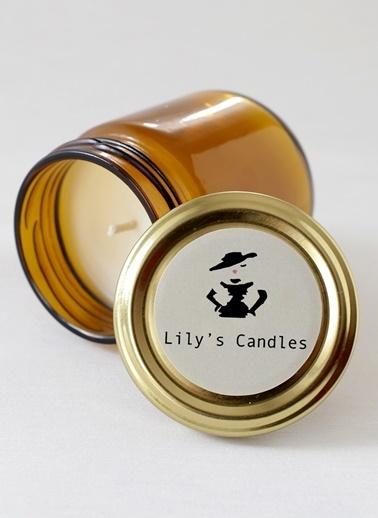 Lily's Candles Mavi Anemon Çiçeği Doğal Mum Kahve